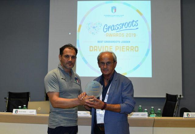 "Davide Pierro vince il premio nazionale ""Best Grassroots Leader""  FIGC"