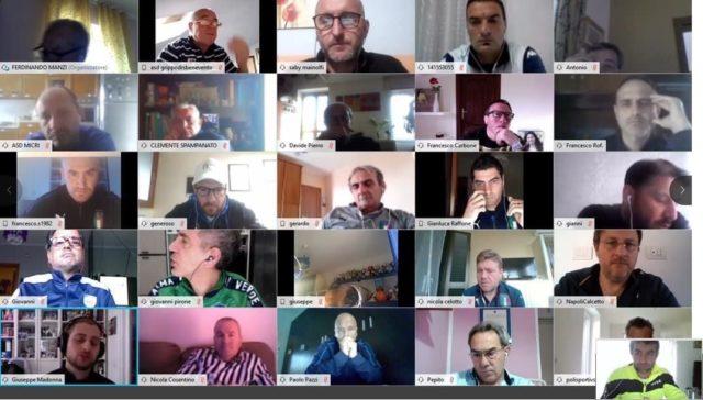 Videoconferenza FIGC SGS Campania con i Responsabili Tecnici Scuole Calcio Elite